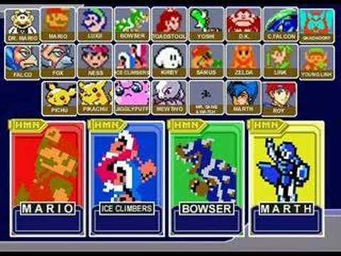 Super Smash Bros Melee - Menu 8 bit remix