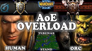 Grubby | Warcraft 3 TFT | 1.29 | HU v ORC on Terenas Stand - AoE Overload