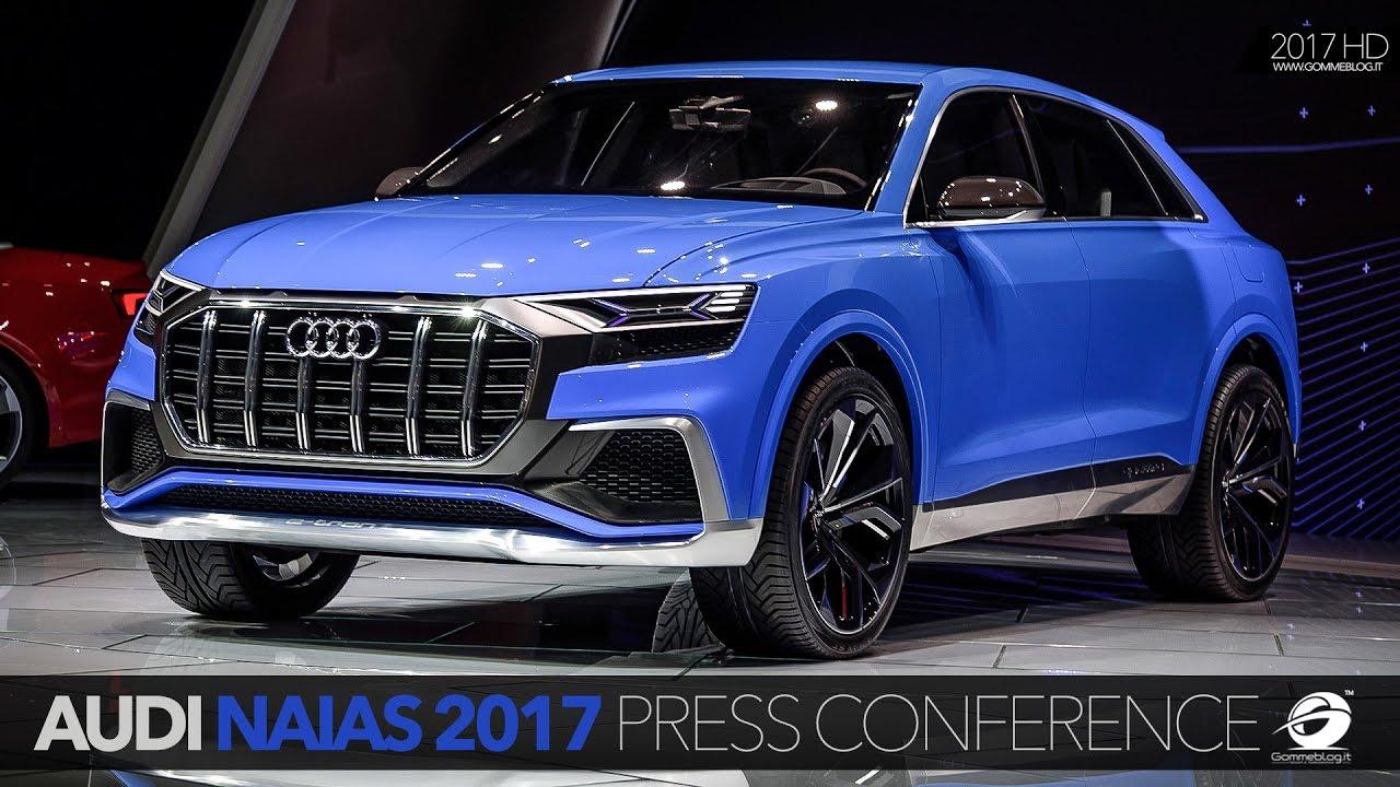 Audi At The Detroit Motor Show NAIAS Press Conference YouTube - Audi detroit