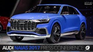 Audi at the Detroit Motor Show NAIAS 2017 - Press Conference