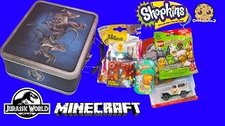 Jurassic World Toy Surprise Tin + Blind Bags from Shopkins Season 3 , Minecraft + More Toys