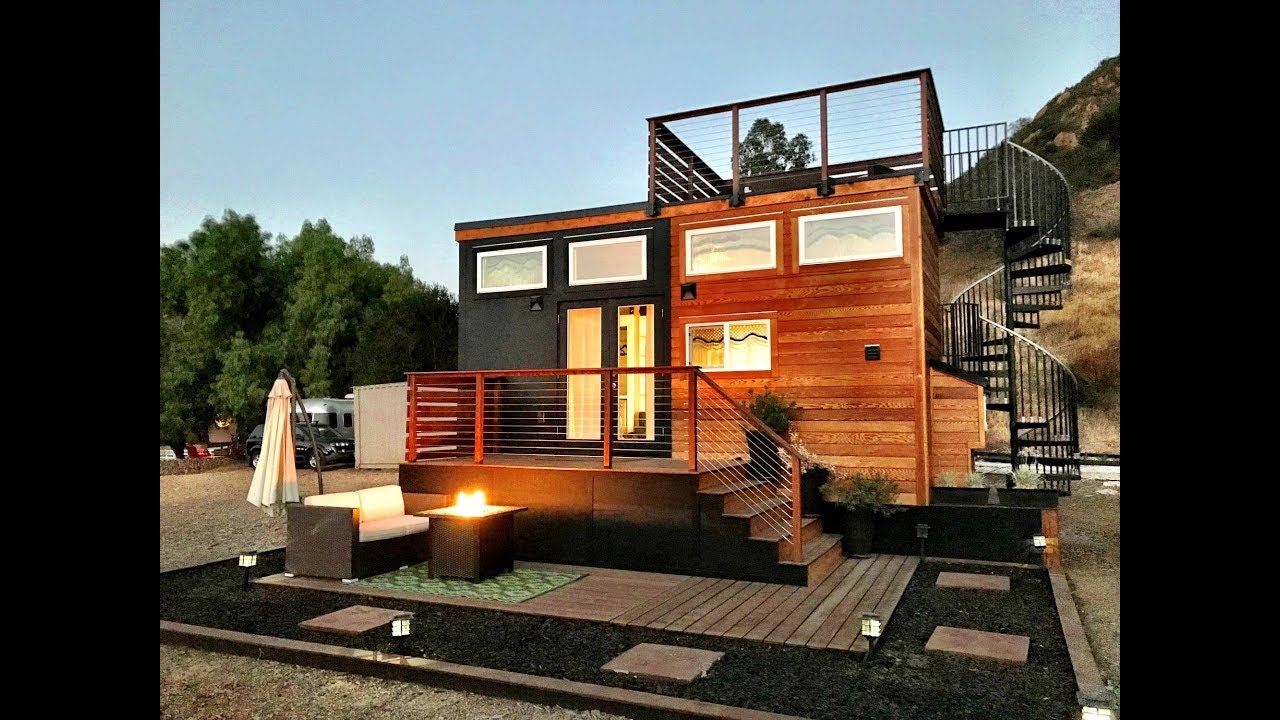 Fabulous Tiny House With Rooftop Deck Youtube