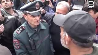 Նիկոլ Փաշինյանը հեռացվեց հավաքի վայրից 22․04․2018