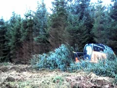 Primetech PT 400 The Ultimate demonstration of whole tree mulching Sitka Spruce