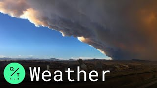Cameron Peak Fire Smoke Plume Towers Over Northern Colorado
