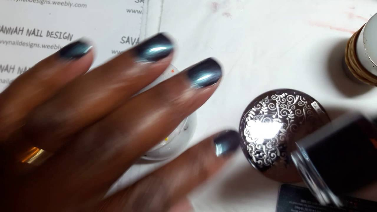 Peace & Love & OPI\' nailart stamping - YouTube