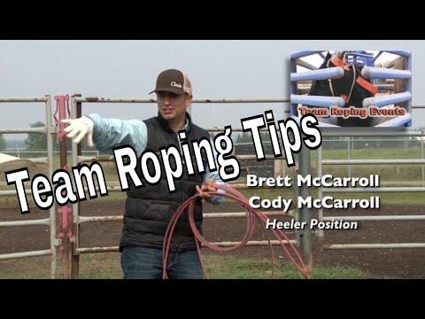Heeler Horse Position - Brett & Cody McCarroll Team Roping Tips