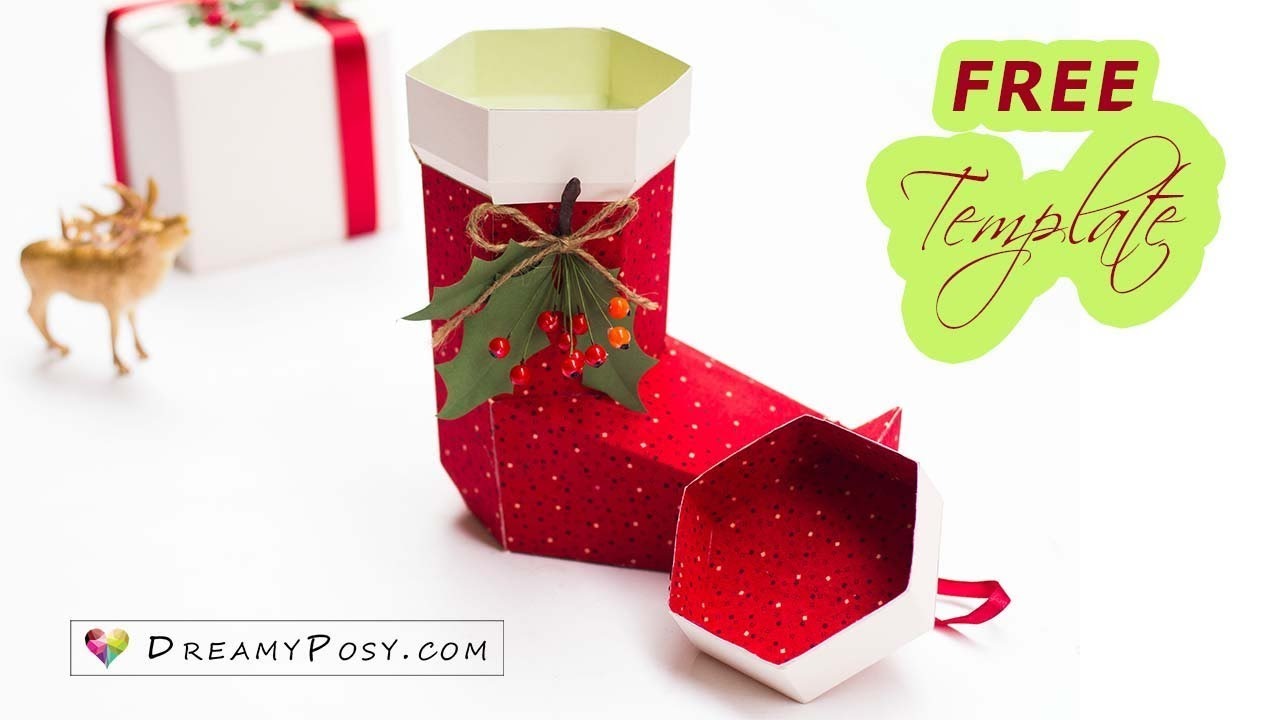 image regarding Free Printable Christmas Stocking Pattern identify [Absolutely free template] How in the direction of produce paper Xmas stocking