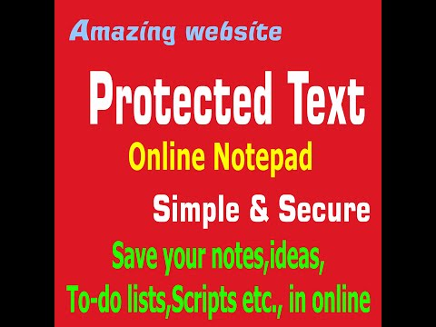 Amazing Website:Protected Text (Online Notepad) In Tamil