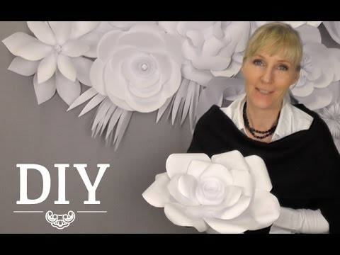 Diy gro e papierbl ten wand aus kopierpapier selber for Deko kitchen papierblumen