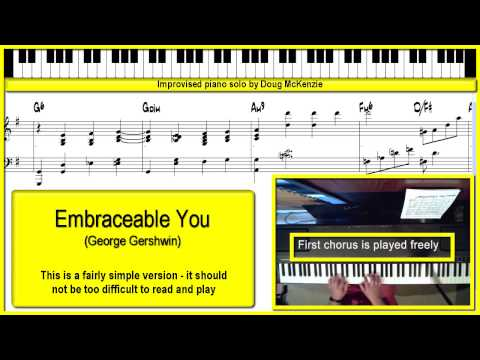 Embraceable You - solo jazz piano lesson