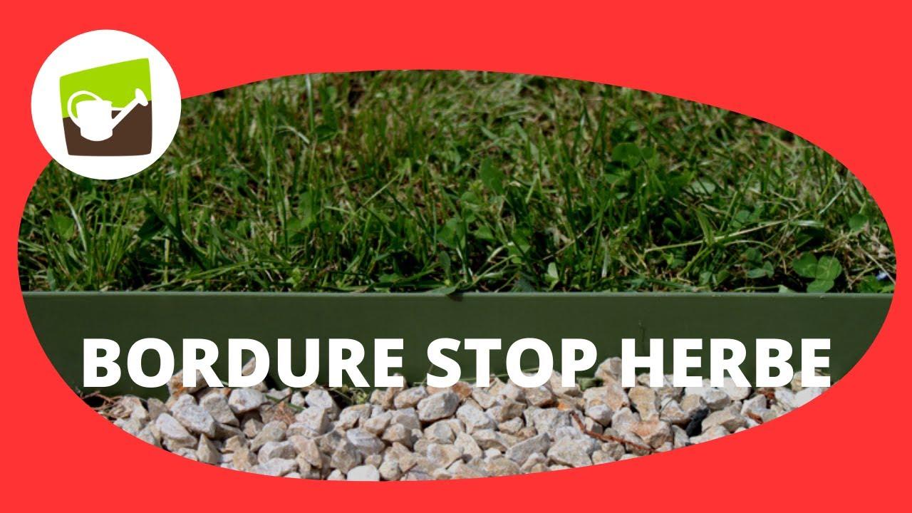 Bordure de jardin stop herbe avec rebord sur lev ref for Jardinetsaisons