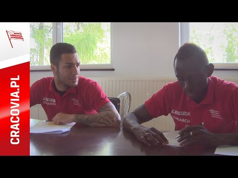 Armiche Ortega i Boubacar Diabang uczą się języka polskiego