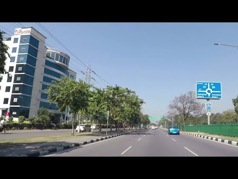 Driving in Chandigarh (Industrial Area Phase II to Sector 36) - India