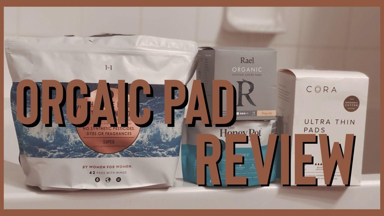 Organic Pad Review (L Brand, Rael Organic, Cora and Honey Pot) | Period Talk
