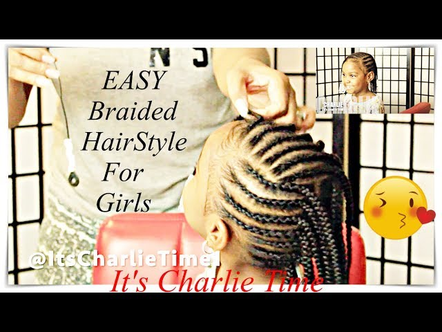 Fast Braided Style For School Girls Natural Hair Youtube