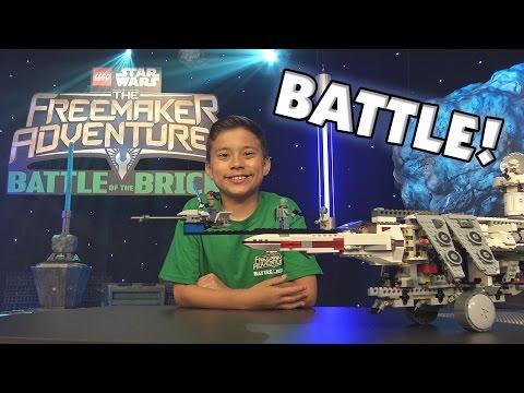 BATTLE of the BRICKS!!! LEGO Star Wars: The Freemaker Adventures Challenge! Disney XD