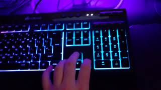 Corsair K55 RGB Gaming Keyboard - (Unboxing, Review And Sound Test)