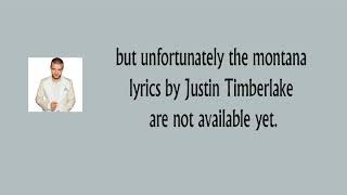 Justin Timberlake Montana lyrics