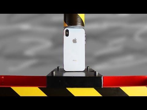 Hydraulische 50 Tonnen Presse gegen iPhone X
