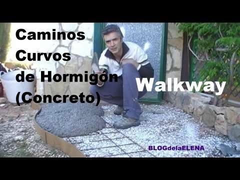 Camino de hormig n concreto para jard n y huerto - Losas de hormigon para jardines ...