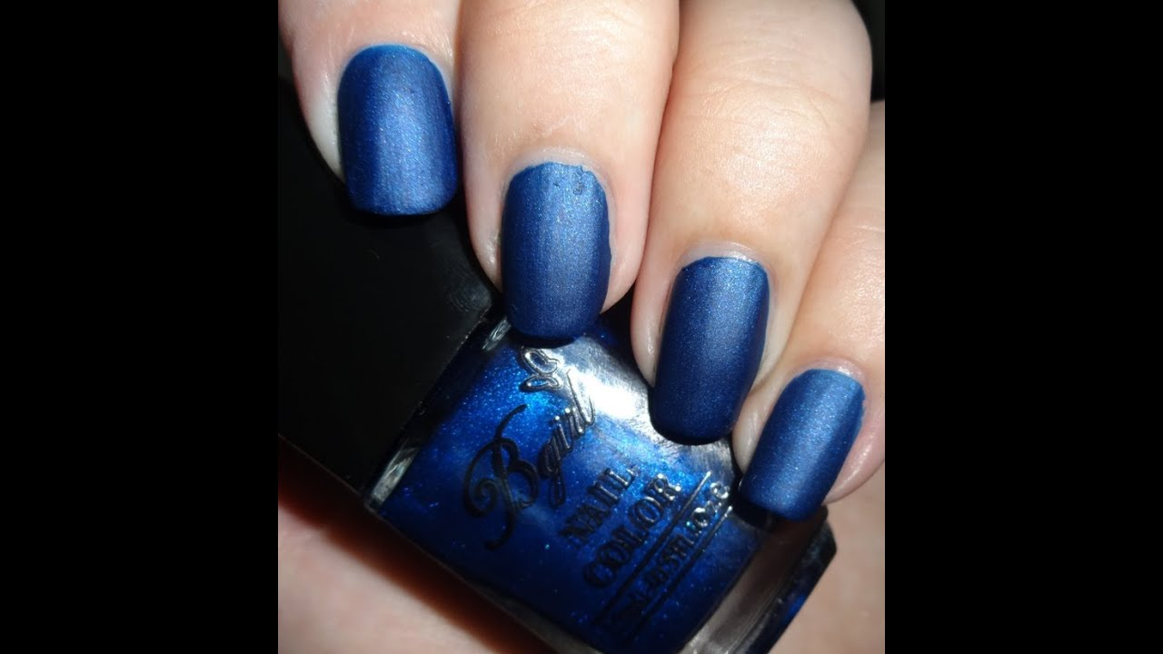 Born Pretty Store Frosted Matte Nail Polish - Navy Blue - YouTube