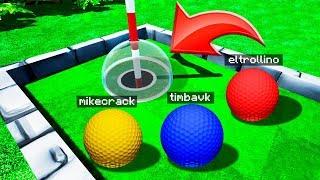 ¡99% Imposible meterla en este hoyo Troll! 😡⛳ Golf It con Los Compas!