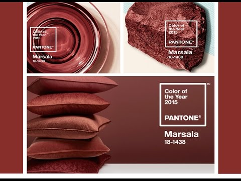 marsala 2015 pantone color of the year youtube. Black Bedroom Furniture Sets. Home Design Ideas