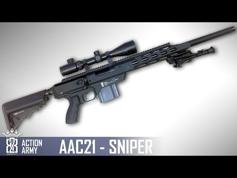 *Airsoft Review *  Action Army AAC21 SNIPER | English Subtitles - Deutsch