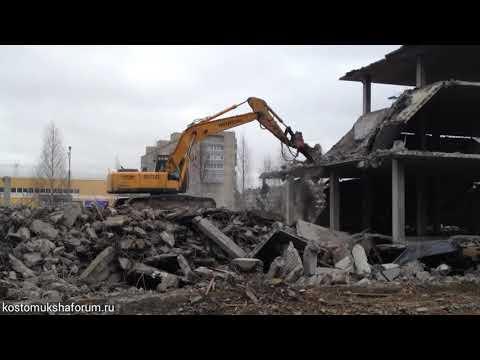 Демонтаж обрушенного торгового центра в Костомукше