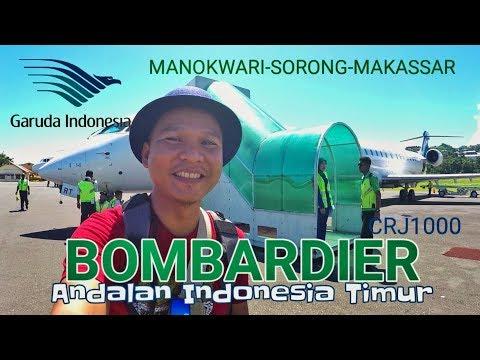 "Terbang dgn ""Pesawat Pensil"" BOMBARDIER CRJ1000 Garuda ""Manokwari-Sorong-Makassar"" (PV156)"
