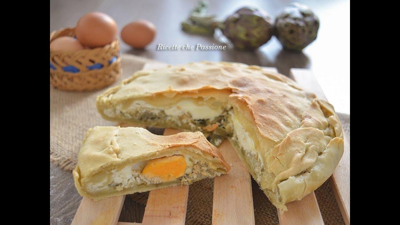 Torta Pasqualina Con Carciofi Ricette Che Passione Youtube