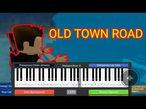 Playing Old Town Road On Roblox Piano Youtube