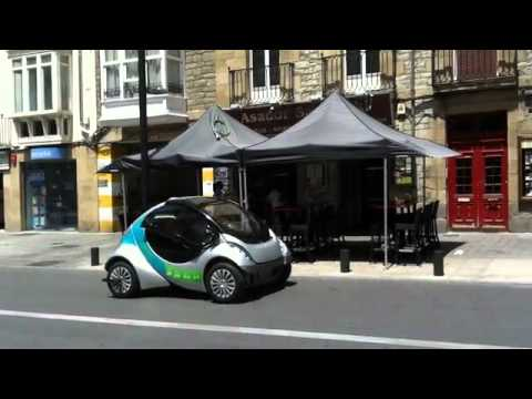 Hiriko prototype spotted in Spain (folding EV)