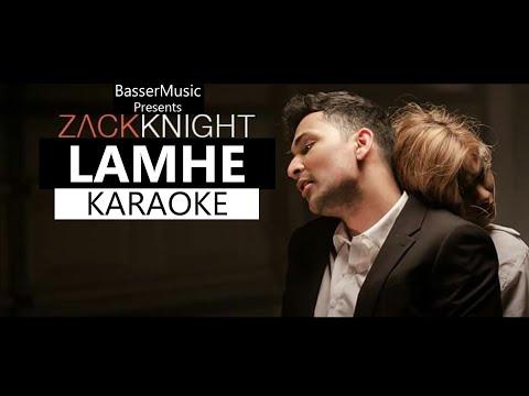 Lamhe (Zack Knight) Karaoke With Lyrics   Hindi Remix Song Karaoke   BasserMusic