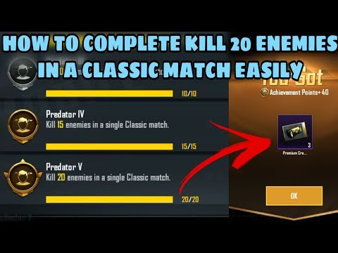 How To Complete Predator V Achievement Easily | Get 40 Achievement Points and 3 Premium Crate Coupon