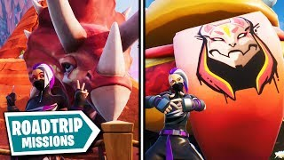 All ROAD TRIP MISSIONS and REWARDS on Fortnite Season X...