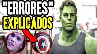 Los errores de Avengers Endgame explicados, 2 Capitanes, mjolnir, Natasha y más