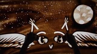 Рисуем песком с Баечни . Сова