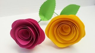 TUTORIAL: ROSE di CARTA (San Valentino, Festa della Mamma, dolci ricorrenze..)