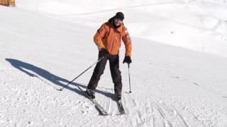 ★Карвинг Лыжи★ Урок 15 как вести горные лыжи параллельно