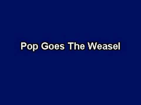 Pop Goes The Weasel, Karaoke video with lyrics, Instrumental Version