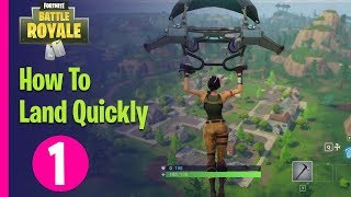 Fortnite Battle Royale Academy - HOW TO LAND QUICKLY - PART 1