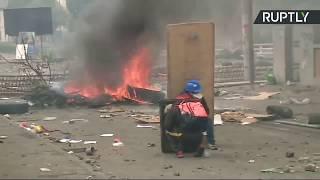 A gas lacrimógeno y fuego, en otra jornada de disturbios en Quito contra el 'paquetazo' de Lenín