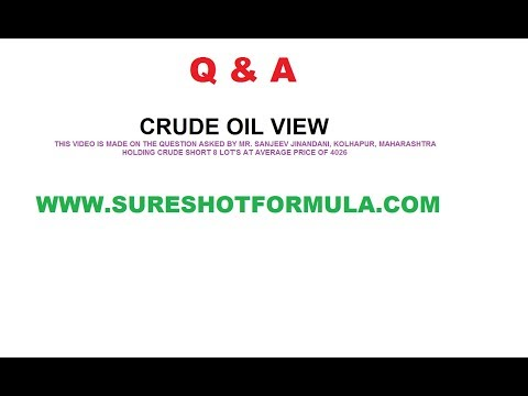 Q&A: CRUDE SHORT AT 4026/ WHAT TO DO??: FUTURE LEVEL'S OF CRUDE