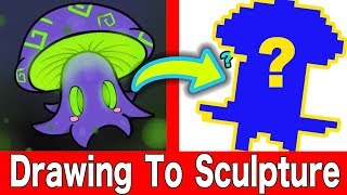 TURNING YOUR ART INTO SCULPTURE #10 Polymer Clay DIY CRAFT Art Challenge