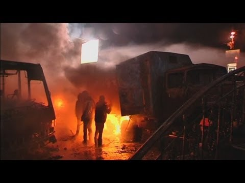 Ukraine protests: Violence clashes between police and protesters in Kiev