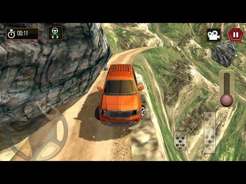 Direksiyonlu Turuncu Jip Dağ Araba Sürüşü||Oyun Oyna