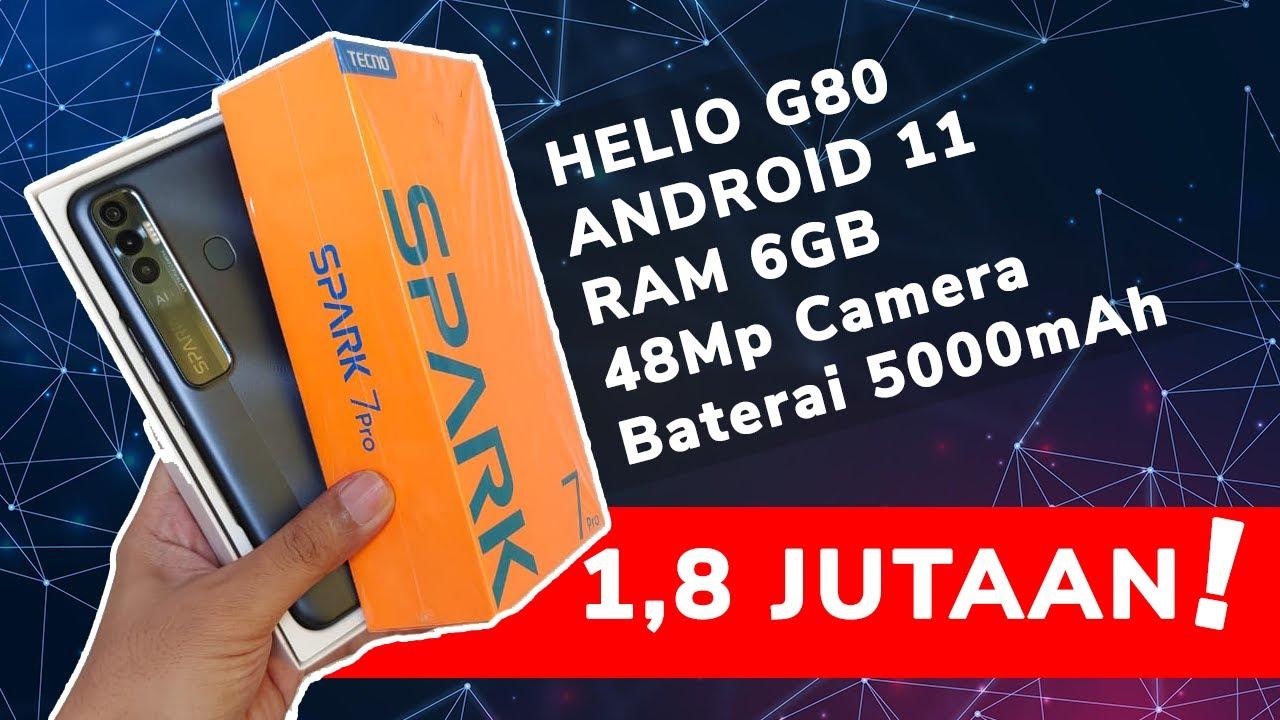 AUTO LARIS! RAM 6GB HARGA 1 JUTAAN | TECNO SPARK 7 PRO 2021