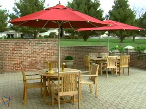 California Umbrella 11 Ft Commercial Grade Patio Product Review Video